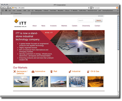 ITT's website small