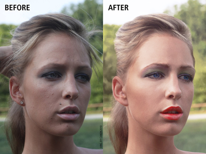 Face retouching small