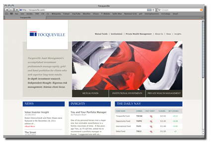Tocqueville's website small